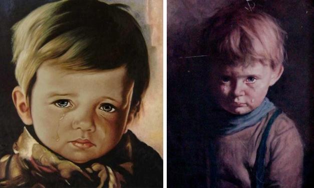 Az átkozott Síró kisfiú festménye, ami rád gyújtja a házat